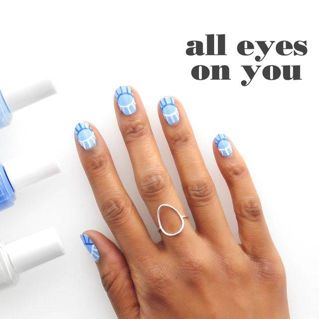 art sur ongles all eyes on you