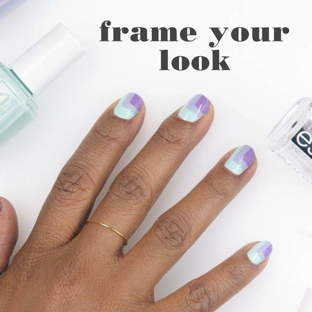 frame your look nail art