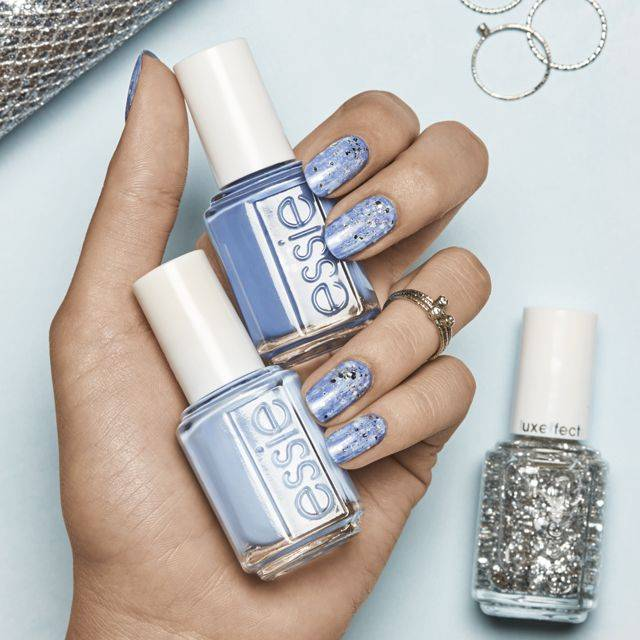 art sur ongles snowfall sparkle