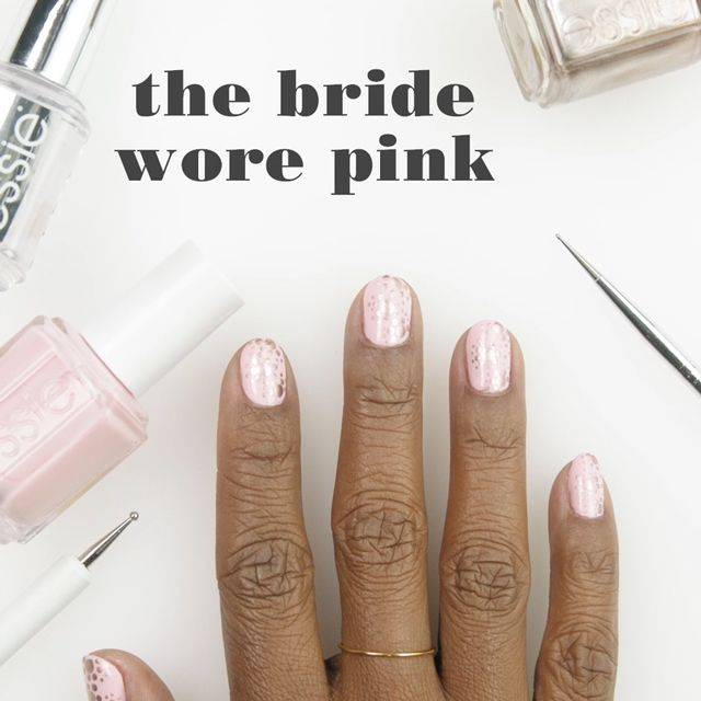 art sur ongles the bride wore pink